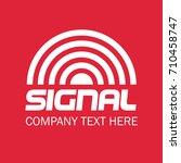 signal. logo design. vector...   Shutterstock .eps vector #710458747