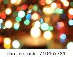 abstract circular bokeh... | Shutterstock . vector #710459731