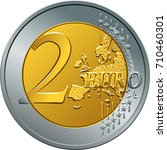 reverse gold and silver money... | Shutterstock .eps vector #710460301