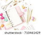 planner mockup and stationary.... | Shutterstock . vector #710461429