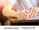 soft focus.high school or... | Shutterstock . vector #710474779