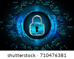 safety concept  closed padlock... | Shutterstock .eps vector #710476381