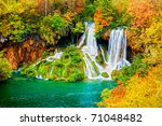 Tranquil Waterfall Scenery In...