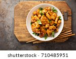 spicy sweet and sour general... | Shutterstock . vector #710485951