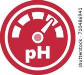 ph increase measurement red... | Shutterstock .eps vector #710486941
