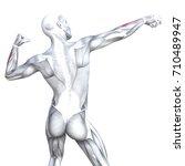 conceptual 3d illustration back ... | Shutterstock . vector #710489947