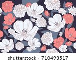 seamless floral pattern | Shutterstock .eps vector #710493517
