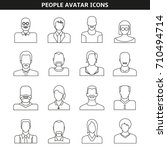 people avatar icons line style | Shutterstock .eps vector #710494714