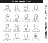 people avatar icons line style | Shutterstock .eps vector #710494741