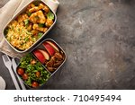 Lunch boxes with food ready to...