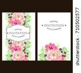 vintage delicate invitation... | Shutterstock .eps vector #710502577