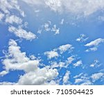 blue sky with clouds in the... | Shutterstock . vector #710504425