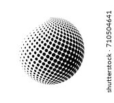 abstract globe dotted sphere.... | Shutterstock .eps vector #710504641