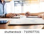 administrator business man... | Shutterstock . vector #710507731