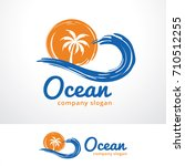 ocean logo template design... | Shutterstock .eps vector #710512255