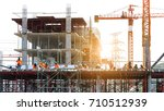 the grouping of workers  are... | Shutterstock . vector #710512939