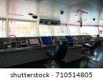 control panel ship's radar map... | Shutterstock . vector #710514805