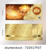 luxury golden and gift voucher... | Shutterstock .eps vector #710517937