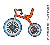 cute tricycle isolated icon | Shutterstock .eps vector #710519395