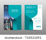 annual report brochure layout... | Shutterstock .eps vector #710521051