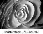 the sculptured plaster of white ... | Shutterstock . vector #710528707