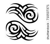 tattoo atribal vector design.... | Shutterstock .eps vector #710537371