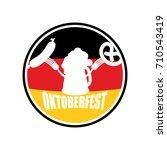 oktoberfest symbol of beer ... | Shutterstock .eps vector #710543419