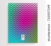 abstract minimal zig zag... | Shutterstock .eps vector #710557249