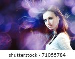 young beautiful girl | Shutterstock . vector #71055784