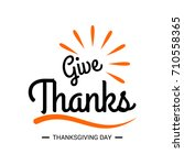 happy thanksgiving day.... | Shutterstock .eps vector #710558365