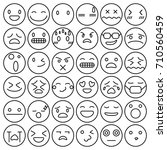 emoji emoticons set face... | Shutterstock .eps vector #710560459