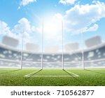 an aussie rules football... | Shutterstock . vector #710562877