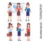 business women vector set.... | Shutterstock .eps vector #710562919