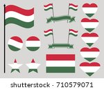 hungary flag set. collection of ... | Shutterstock .eps vector #710579071