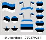 estonia flag set. collection of ...