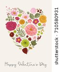 vintage greeting vector card... | Shutterstock .eps vector #710580931