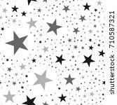 black stars seamless pattern on ...   Shutterstock .eps vector #710587321