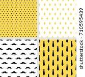 set of printable vector... | Shutterstock .eps vector #710595439
