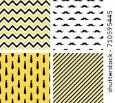 set of printable vector... | Shutterstock .eps vector #710595445
