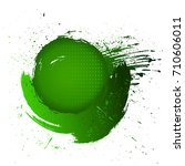 abstract isolated grass green... | Shutterstock .eps vector #710606011