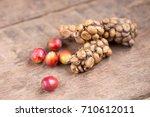 kopi luwak or civet coffee ... | Shutterstock . vector #710612011