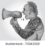 shouting man   Shutterstock .eps vector #71061520