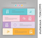 infographics template of four... | Shutterstock .eps vector #710615995