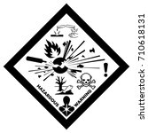 ghs physical hazards sign with... | Shutterstock .eps vector #710618131