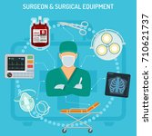 medical concept with surgeon ... | Shutterstock .eps vector #710621737