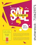 super sale poster  flyer design ... | Shutterstock .eps vector #710625571