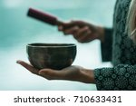 singing bowl | Shutterstock . vector #710633431