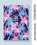 tropical palm tree retro mosaic ...   Shutterstock .eps vector #710638204