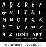 hand drawn alphabet letters... | Shutterstock .eps vector #710638774