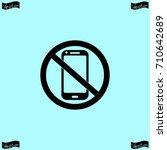 no phone icon  vector... | Shutterstock .eps vector #710642689